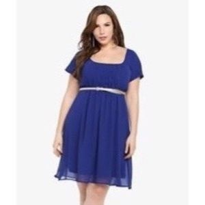 GUC Chiffon Blue Dress
